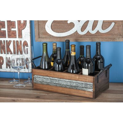 Wood/Metal 8 Tabletop Wine Bottle Rack