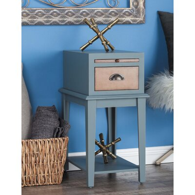 Wood End Table Color: Gray
