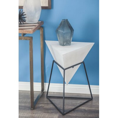 Mcniel Metal Triangle End Table Color: Matte White