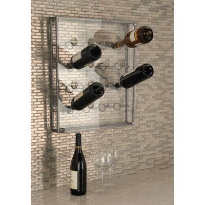 16 Bottle Wall Mounted Wine Bottle Rack Finish: Gray