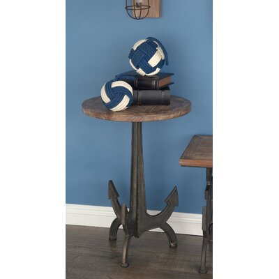Metal/Wood Anchor End Table