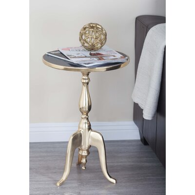 Aluminum/Marble End Table Top Color: Black