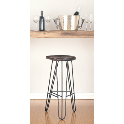 30 Bar Stool Finish: Dark Brown/Black