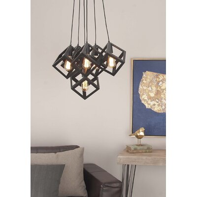 Metal 6-Light Cluster Pendant