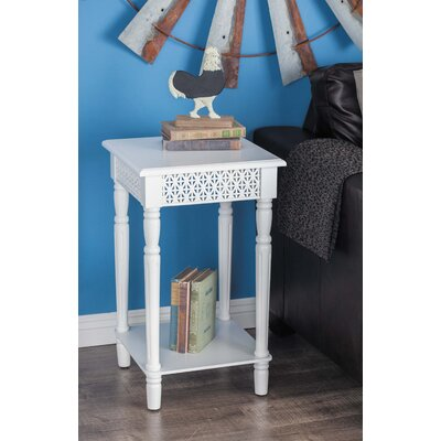 Wood End Table Color: White