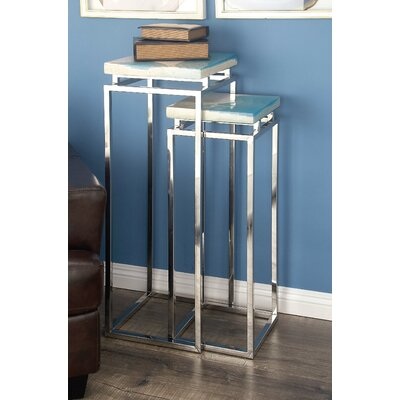 Stainless Steel/Polystone Pedestal 2 Piece Pub Table Set