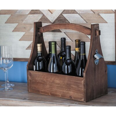 Wood 8 Tabletop Wine Bottle Rack