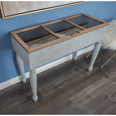 Wood/Glass Console Table