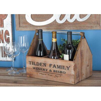 Wood/Acrylic 3 Tabletop Wine Bottle Rack