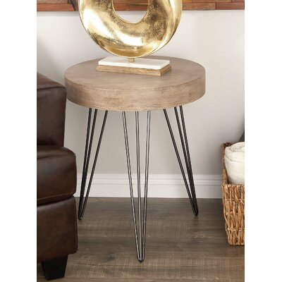 Metal/Wood End Table