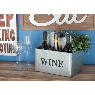 Metal 6 Bottle Tabletop Wine Bottle Rack