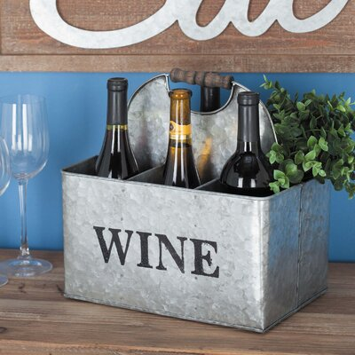Metal 6 Bottle Tabletop Wine Bottle Rack