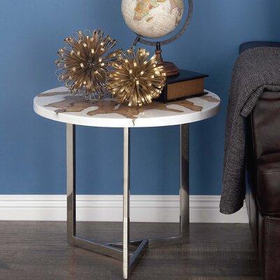 Aluminum/Teak End Table
