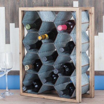 Wood/Metal 11 Tabletop Wine Bottle Rack