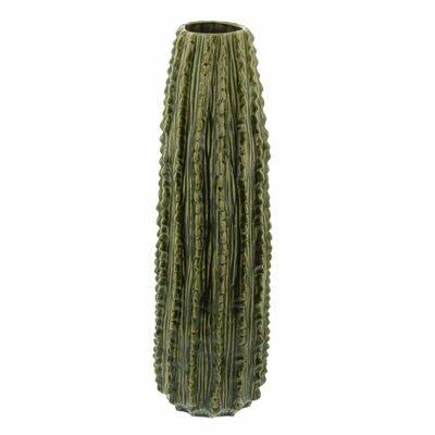 Ceramic Cactus Floor Vase Color: Green