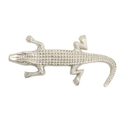 Decorative Aluminum Alligator Sculpture Finish: Nickel