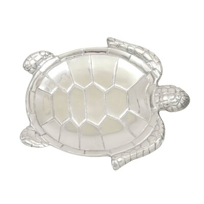 Aluminum Turtle 2 Piece Serving Tray Set