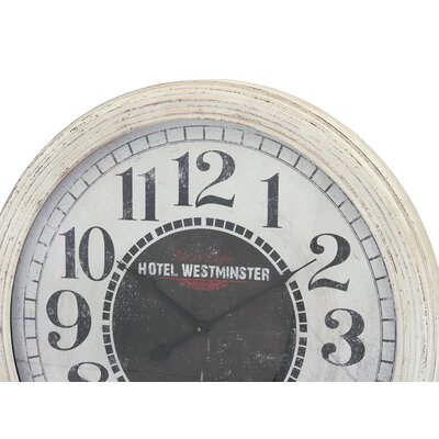 Oversized 31 Wood Wall Clock Finish: Whitewash