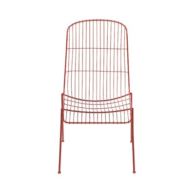 Metal Side Chair (Set of 4) Finish: Red