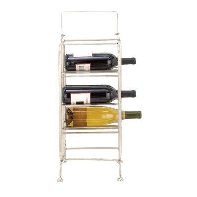 Metal 8 Bottle Tabletop Wine Bottle Rack