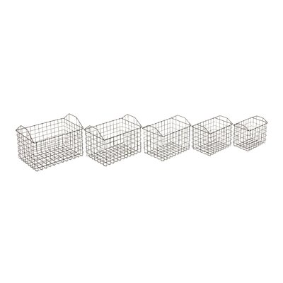 5 Piece Metal Basket Set
