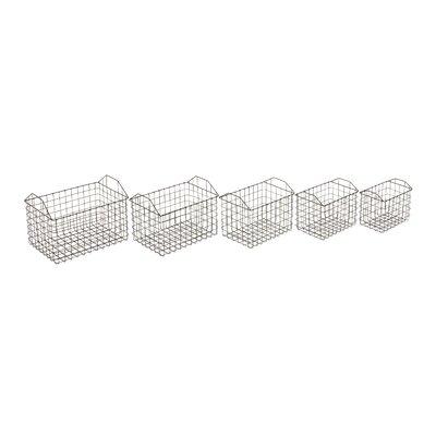 5 Piece Metal Basket Set