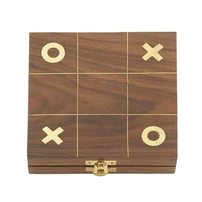 Wood Tic Tac Toe Box Size: 1 H x 6 W x 6 D