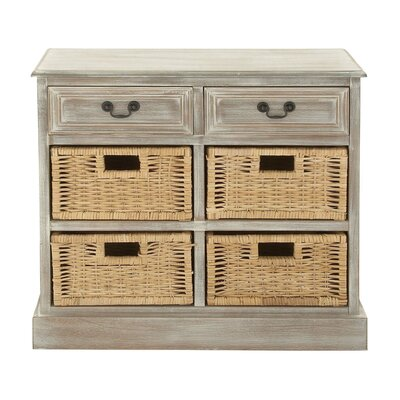 2 Drawer Wood Dresser Finish: Gray