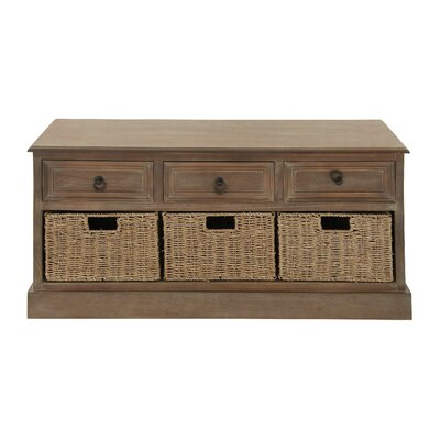 Wood 3 Basket Chest