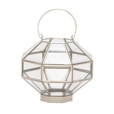 Glass Lantern Finish: Silver / Clear