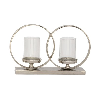 Double Ring Aluminum Votive Size: 9 H x 14 W x 4 D