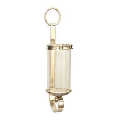 Metal and Glass Sconce Color: Silver
