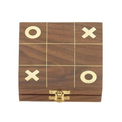 Wood Tic Tac Toe Box Size: 1 H x 5 W x 5 D