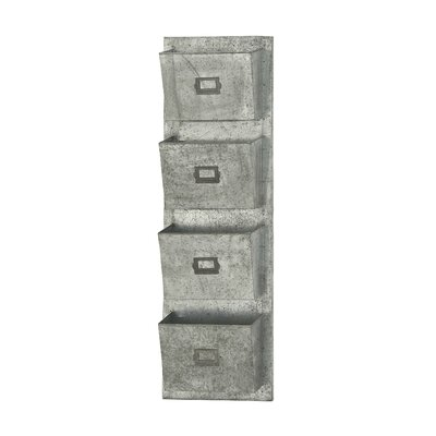 Metal Galvanized Wall Pocket