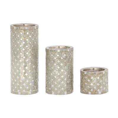 3 Piece Metal Votive Set