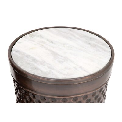 Metal and Marble 2 Piece End Tables