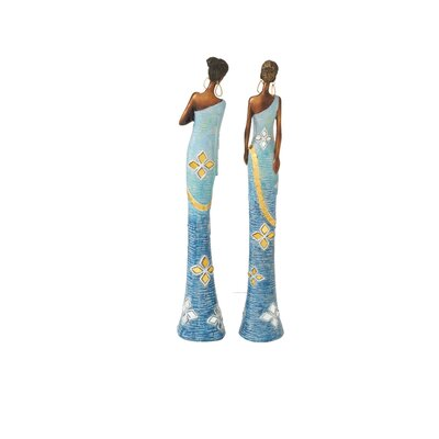 2 Piece African Lady Figurine Set (Set of 2) 44286