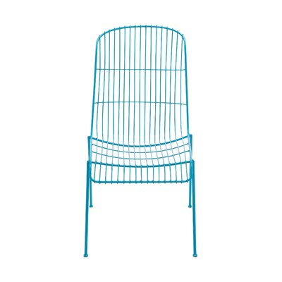 Metal Side Chair (Set of 4) Finish: Blue