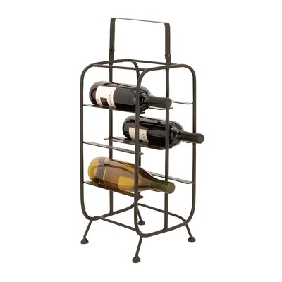Metal 8 Bottle Floor Wine Bottle Rack
