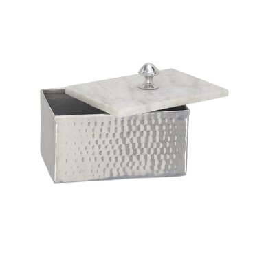 Decorative Aluminum Marble Rectangular Box