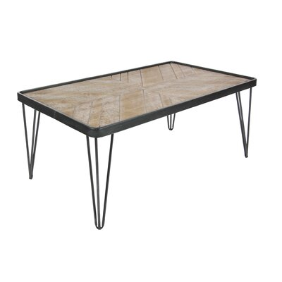 Metal/Wood Coffee Table