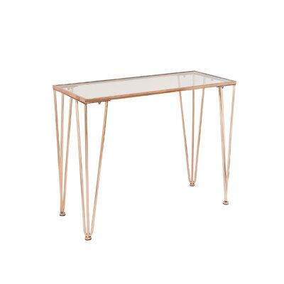 Console Table Finish: Copper