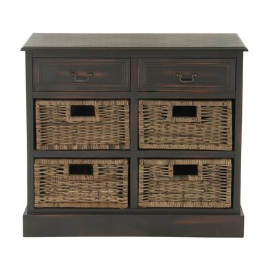 2 Drawer Double Dresser Color: Brown