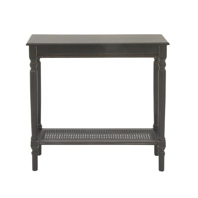 Console Table Finish: Antique Black