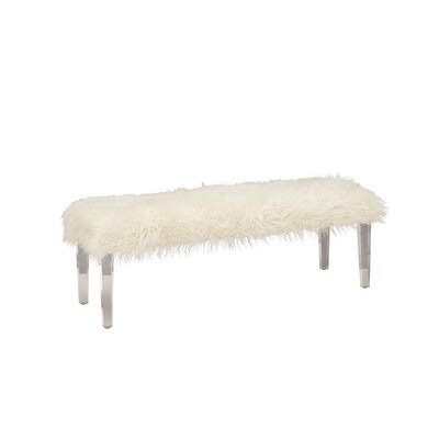 Acrylic Faux Fur Bedroom Bench