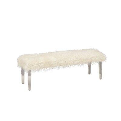 Acrylic Faux Fur Bedroom Bench