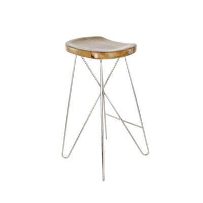 29 Bar Stool Finish: Light Brown/Silver