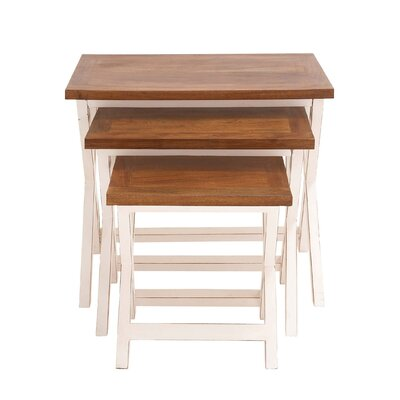 Wood 3 Piece Nesting Tables
