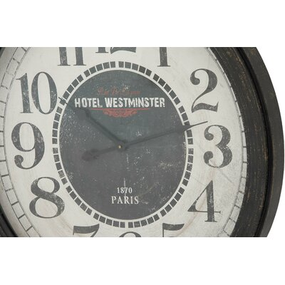 Oversized 31 Wood Wall Clock Finish: Ebony