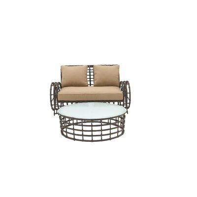 Aluminum/Wicker 4 Piece Deep Seating Group with Cushions